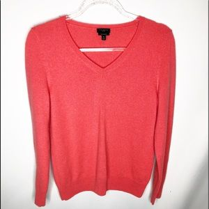 Talbot 100% cashmere  v-neck coral sweater sz MP